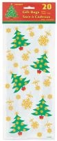 Golden Christmas Cellophane Bags (20)